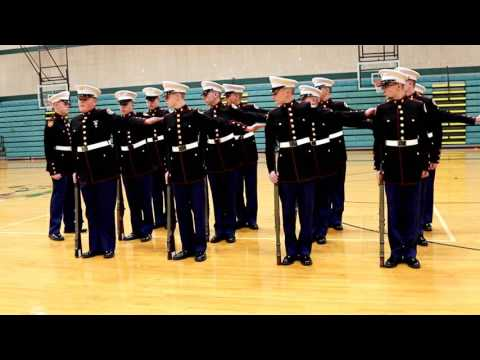 Marine Corps JROTC Color Guard & Drill Team Competition -12