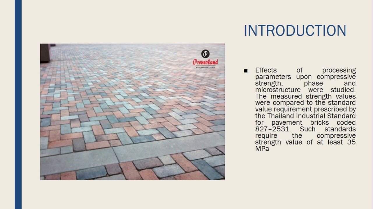 Paving Blocks From Ceramic Tile Production Waste Youtube