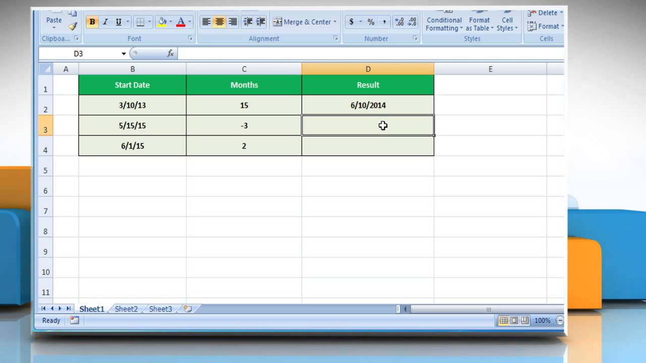 How to use EDATE function in Excel