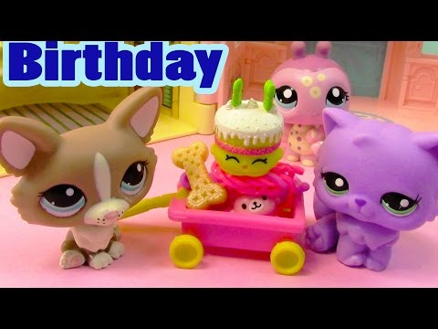 LPS Shopkins It's My Birthday Littlest Pet Shop Annoying Happy Cake