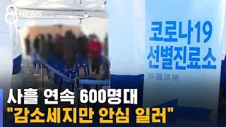 """사흘 연속 600명대…""""감소세지만 안심 일러"""" / SBS"""