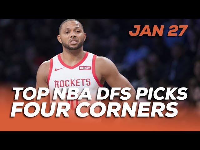 TOP NBA DFS PICKS MON 1/27 - FOUR CORNERS - Sponsored by Superdraft - Awesemo.com
