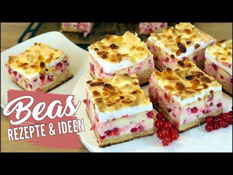 Quark-Johannisbeer Kuchen Rezept | Mit Baiserhaube backen | Süß trifft Sauer