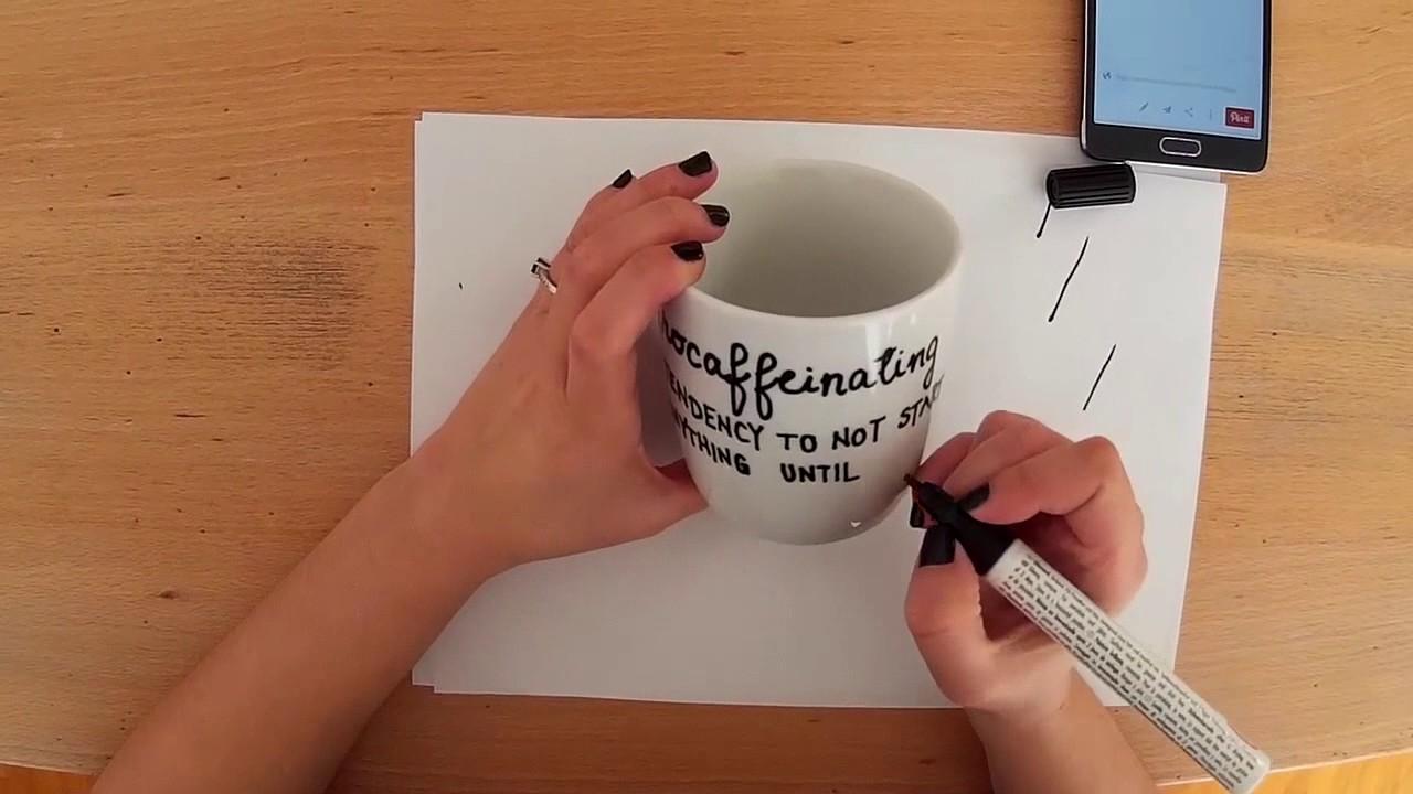 Porselen Kupa Boyama Süsleme Ve Tasarım Youtube