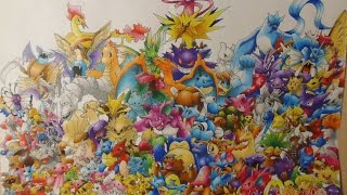 Pokémon GO: drawing all the Pokemon (gen 1)
