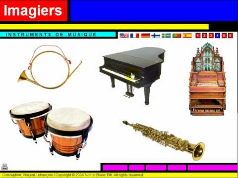 vocabulaire les instruments de musique youtube. Black Bedroom Furniture Sets. Home Design Ideas