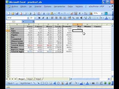 Promedio Máximo Y Mínimo En Excel Youtube