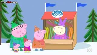 Peppa pig skiing