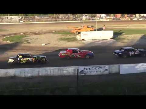 Hobby Stock Heat Race #1 at Mt. Pleasant Speedway, Michigan on 06-07-2019!