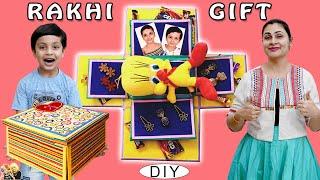RAKHI GIFT #DIY Rakshabandhan Special | Gift Explosion Box | Aayu and Pihu Show