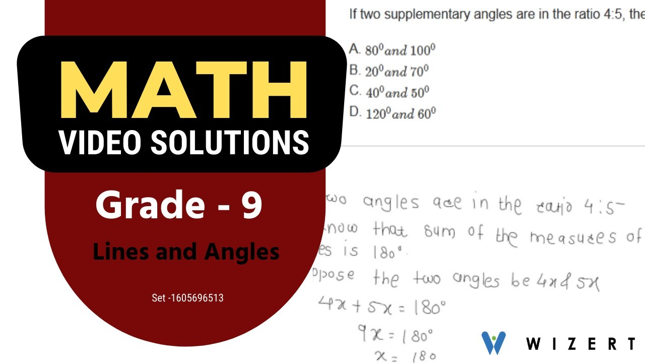hight resolution of Maths Tests for Grade 9 - Grade 9 Math Lines And Angles worksheets - Set  1605696513 - YouTube