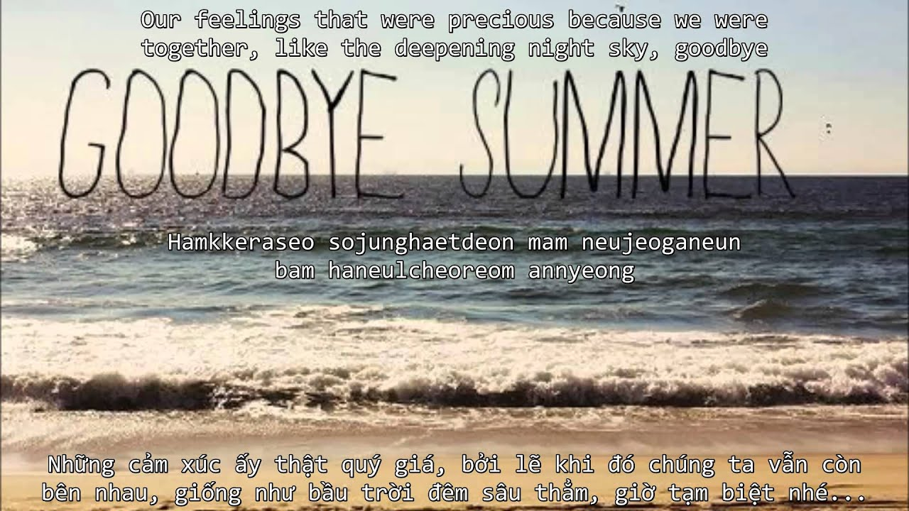 [Vietsub Engsub Rom] Goodbye Summer   F(x) Ft. D.O.