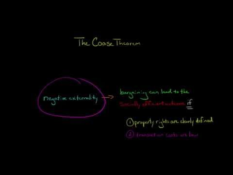 The Coase Theorem and Negative Externalities