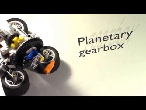 Simple mechanics 11 : lego planetary gearbox - YouTube