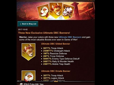 Game Of War: DBC Banner, Rune, Gear, and How to use Quick Find