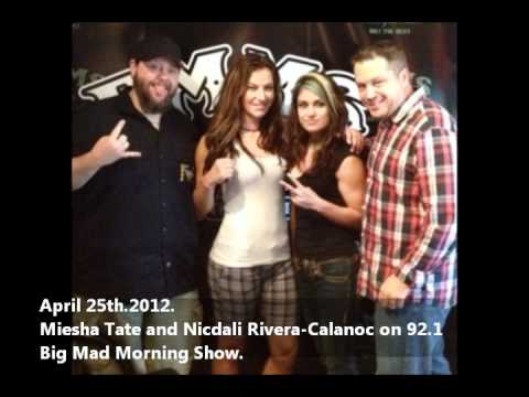 Miesha Tate and Nicdali Rivera-Calanoc on Tulsa radio station hanging out & promoting Invicta FC