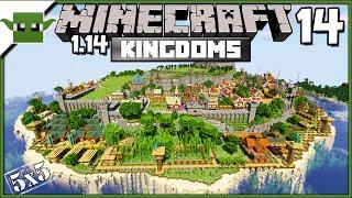Minecraft 1.14 Medieval Island Kingdom Lets Build S2E14- Church + Lantern Shop