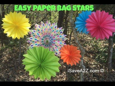 easy paper bag stars tutorial