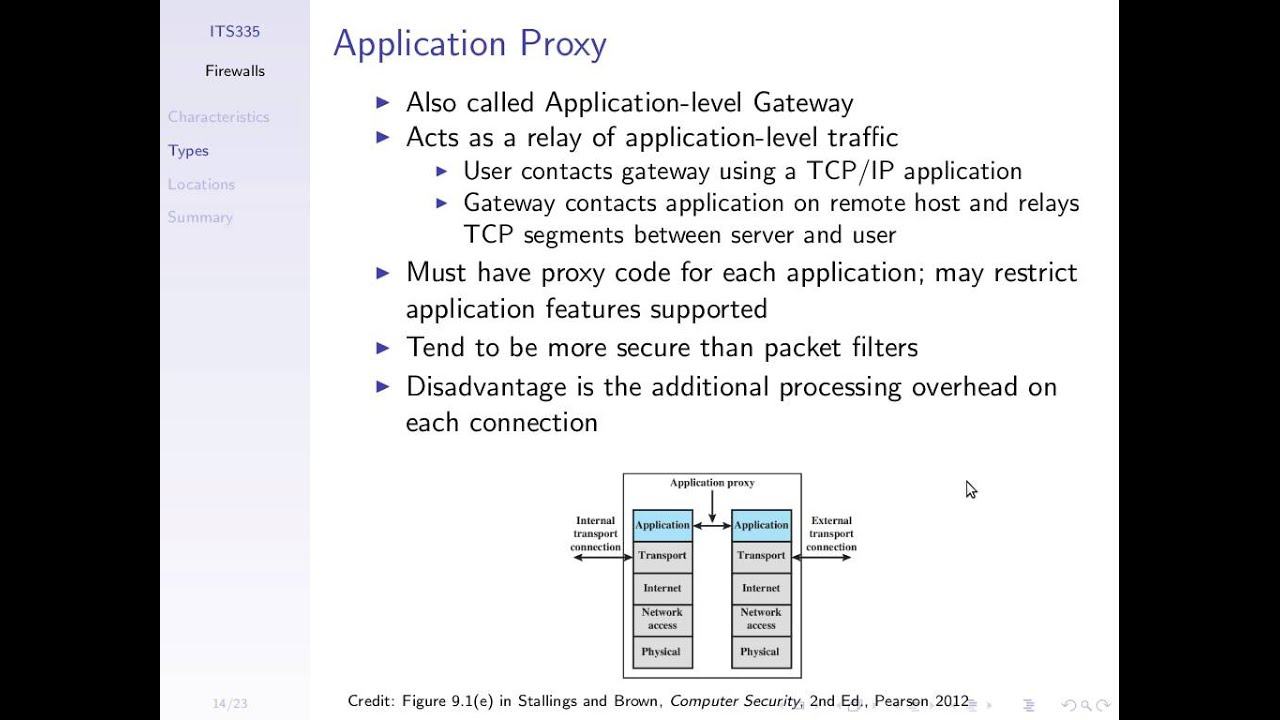 Packet filter vs proxy firewall