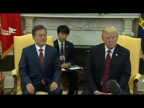 President Trump, Moon Jae-In discuss DPRK summit, regional tensions