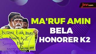 Ma'ruf Amin Bakal Bantu Honorer K2 Diangkat Jadi PNS? - JPNN.com