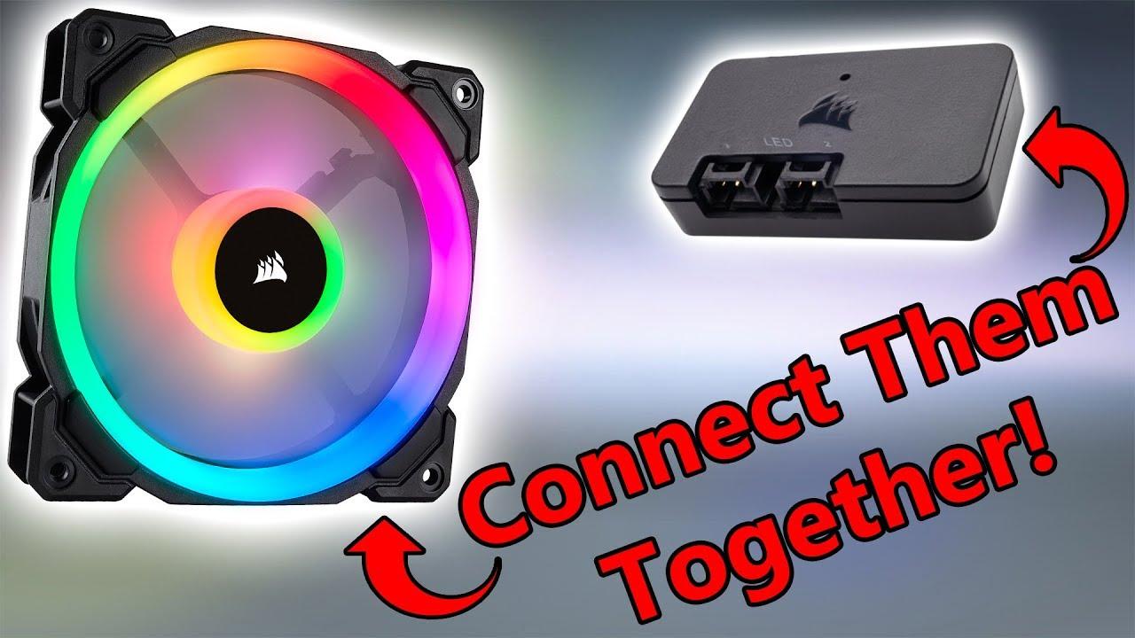 corsair ll fan into lighting node pro without fan hub