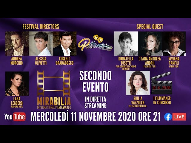 11.11.2020 - Mirabilia International Film Awards - Secondo evento bimensile