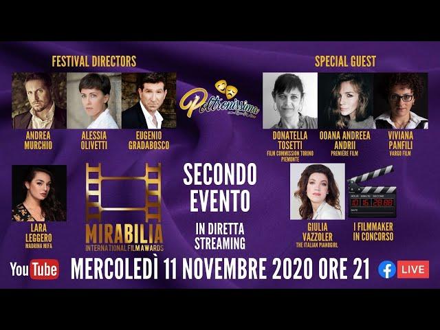 11.11.2020 - Mirabilia International Film Awards - Secondo evento bimensile