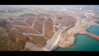 Керченский мост 2017 мост растет стремительно  2017 17 Января