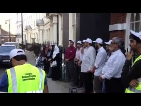 Vigil Outside The Embassy Of Myanmar, London, UK (Video 1)