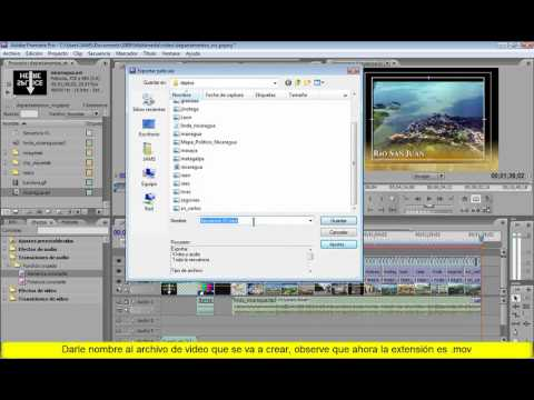 Adobe Premiere Pro CS3 Exportar Video