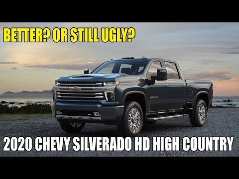 Better or Still Ugly? 2020 Chevy Silverado HD High Country Trim Revealed