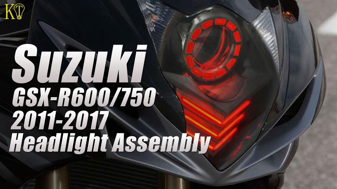 Fit for Suzuki GSXR750 2011-2019 LED Angel Eye Headlight Assembly