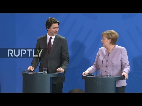 LIVE: Angela Merkel and Justin Trudeau hold press conference in Berlin