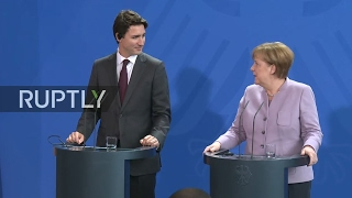 LIVE  Angela Merkel and Justin Trudeau hold press conference in Berlin