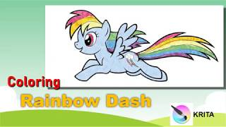 Coloring Rainbowdash