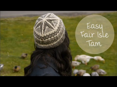 KNITTING TUTORIAL-EASY FAIR ISLE TAM - YouTube