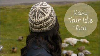 Easy Fair Isle Tam