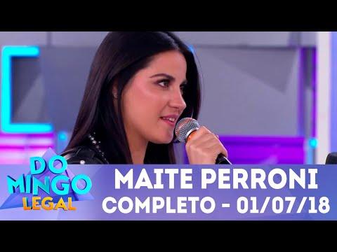Maite Perroni arrasa no palco | Domingo Legal (01/07/2018)