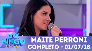 Maite Perroni arrasa no palco | Domingo Legal (01/07/2018)