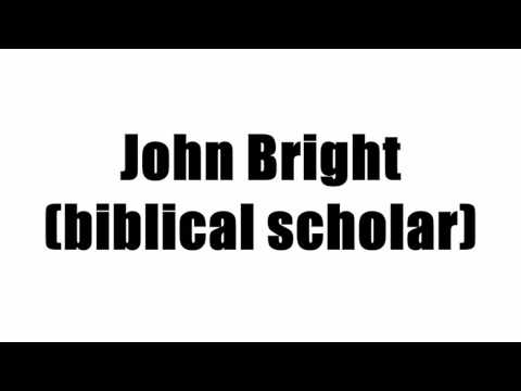 John Bright (biblical scholar)