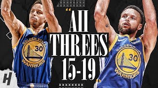 Stephen Curry ALL 121 Three-Pointers in 2015-2019 NBA Finals  MAKES FINALS HISTORY