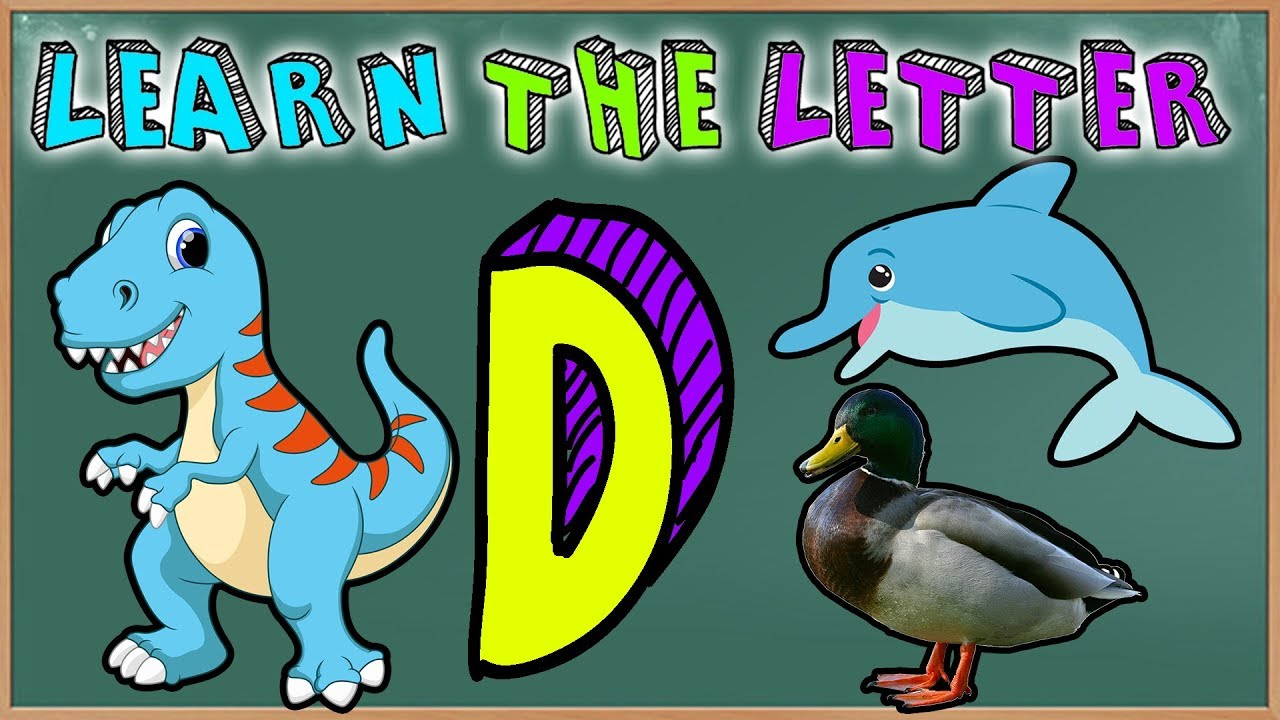 Learn The Letter D with Dinosaurs, Dolphins, Donuts and Ducks! 🐬🦆Cartoons For Preschoolers