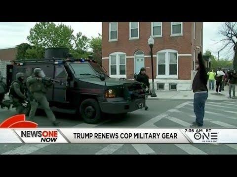 Trump Renews Program That Gives Cops Surplus Military Gear