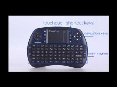 2019 Wireless Mini Keyboard with Touchpad for Android TV Box and Raspberry  Pi 3 B+ and HTPC KP
