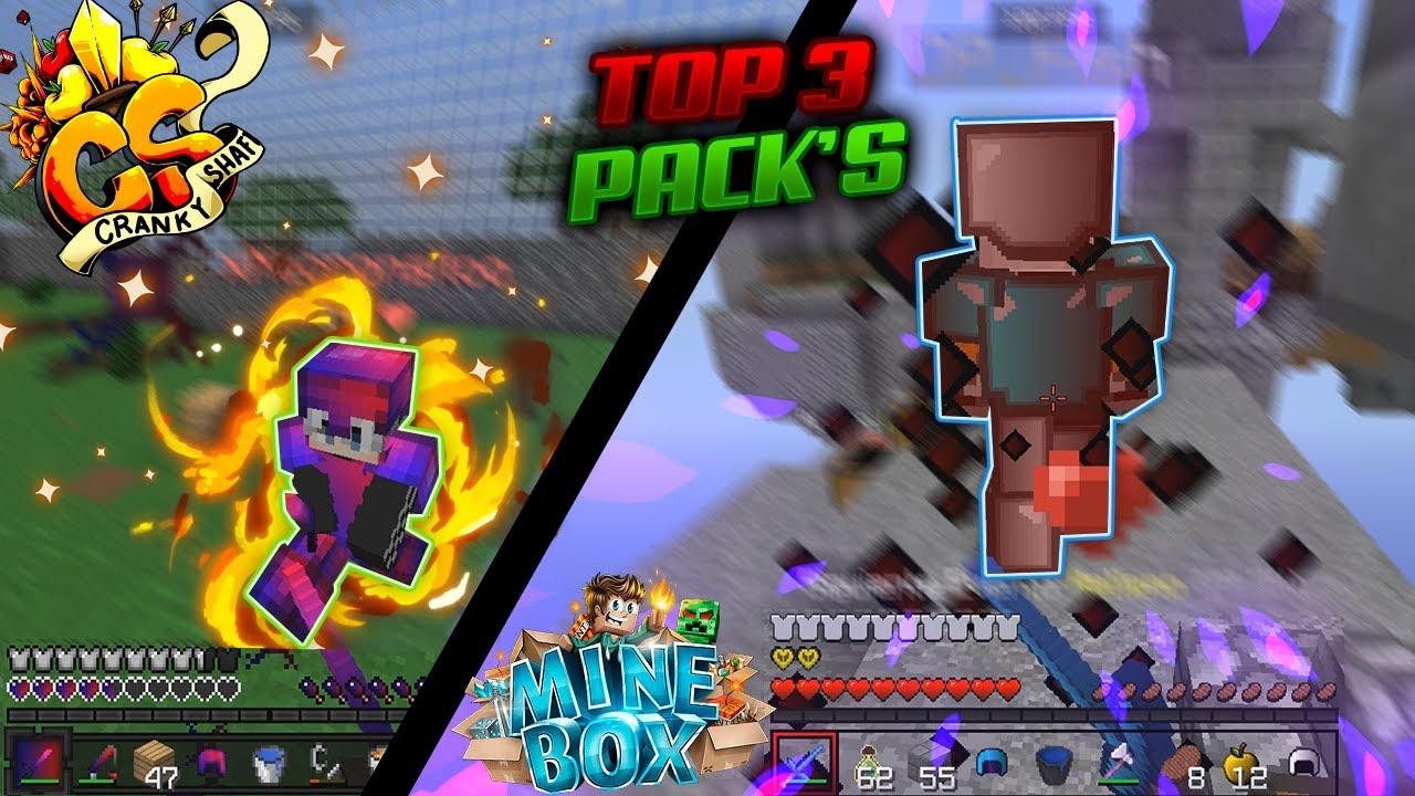 TOP 3 TEXTURE PACKS (FPS BOOST)😱 | Skywars Minebox