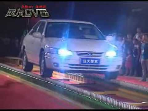 Chinese man drives his car on 1.798 bottles