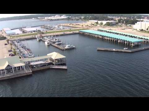 Flying Over Panama City Marina and Downtown
