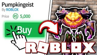 BUYING THE NEWEST ROBLOX HALLOWEEN COSTUME!! *PUMPKINGEIST* (Roblox Murder Mystery 2)