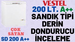 VESTEL 200 LT. A++ SANDIK TİPİ DERİN DONDURUCU İNCELEME - ÇOK SATAN MODEL